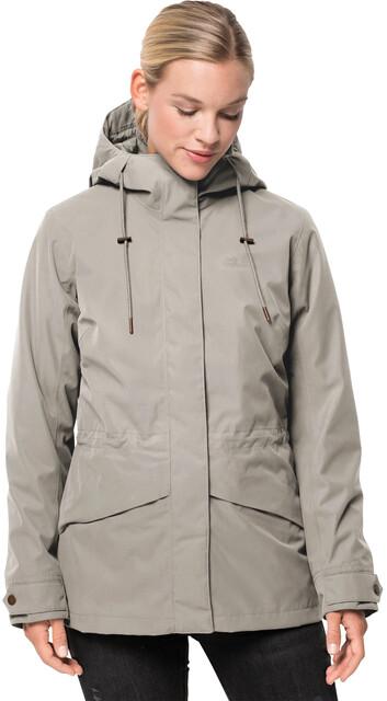 JACK WOLFSKIN Rochelle 3in1 Jacket W Greenish Grey GRIJS